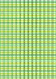Groene en gele geruit Stock Foto's