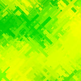 Groene en Gele Glitch Achtergrond Stock Afbeelding