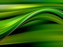 Groene en gele golven royalty-vrije illustratie