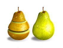 Groene en gele peren Royalty-vrije Stock Fotografie