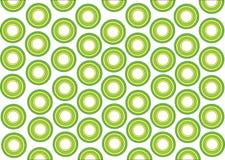 Groene en gele rondes Stock Foto's