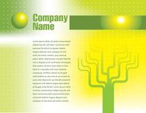 Groene en gele website Stock Afbeeldingen