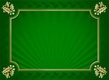 Groene en Gouden Elegante Hulst In orde gemaakte Achtergrond stock illustratie