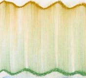 Groene en gouden pastelkleursamenvatting Royalty-vrije Stock Fotografie