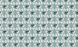 Groene en grijze etnische textuur en tegelachtergrond Stock Afbeelding