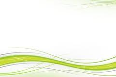 Groene en grijze golven Stock Afbeeldingen