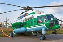 Groene en grijze militaire Helikopter Royalty-vrije Stock Fotografie