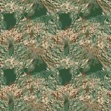 Groene en kaki camo is een kleurrijk naadloos abstract patroon Stock Foto's