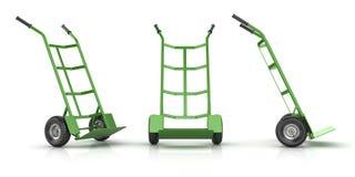 Groene en Lege Handvrachtwagen Royalty-vrije Stock Afbeelding
