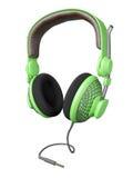 Groene en modieuze hoofdtelefoon Stock Foto