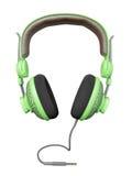 Groene en modieuze hoofdtelefoon Royalty-vrije Stock Foto