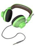 Groene en modieuze hoofdtelefoon Stock Afbeelding