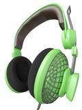 Groene en modieuze hoofdtelefoon Royalty-vrije Stock Afbeelding