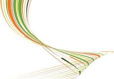 Groene en oranje gebogen lijnen Royalty-vrije Stock Afbeelding