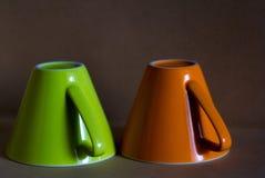 Groene en oranje kop Royalty-vrije Stock Fotografie