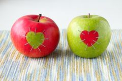 Groene en rode appel Royalty-vrije Stock Fotografie