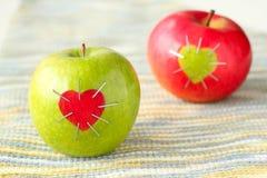 Groene en rode appel Stock Afbeeldingen