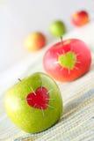 Groene en rode appel Royalty-vrije Stock Afbeelding