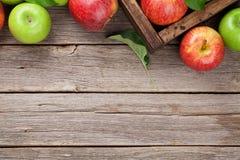 Groene en rode appelen royalty-vrije stock afbeeldingen