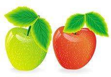 groene en rode appelen Stock Afbeeldingen