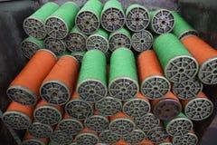 Groene en rode kabel Stock Afbeeldingen