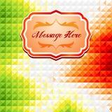 Groene en rode mozaïekachtergrond met tekstvakje Royalty-vrije Stock Foto