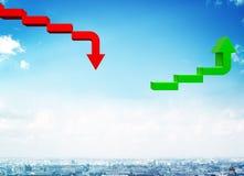 Groene en rode pijlen Royalty-vrije Stock Foto