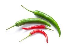 Groene en rode Spaanse peperpeper royalty-vrije stock foto's