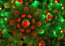 Groene en rood lichtornamenten - achtergrond Royalty-vrije Stock Foto's