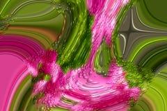 Groene en roze fantasie abstracte achtergrond royalty-vrije stock foto