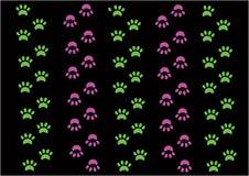 Groene en roze stootkussens op zwarte achtergrond royalty-vrije illustratie