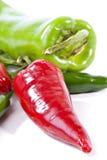 Groene en Spaanse pepers Royalty-vrije Stock Fotografie