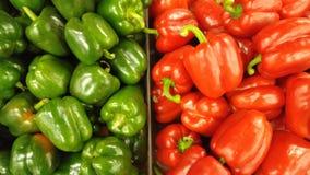 Groene en Spaanse pepers Royalty-vrije Stock Afbeeldingen