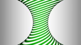 Groene en witte concave roterende cilinder met hypnotic gevolgen royalty-vrije illustratie