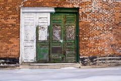 Groene en witte deuren Royalty-vrije Stock Foto