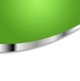 Groene en zilveren achtergrond stock illustratie