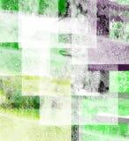 Groene en Zwarte Samenvatting Stock Fotografie