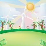 Groene energieachtergrond Stock Afbeeldingen