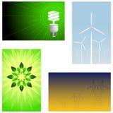 Groene energieachtergronden Royalty-vrije Stock Foto's