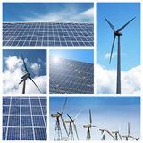 Groene energiecollage royalty-vrije stock foto's