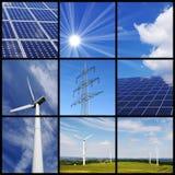 Groene energiecollage Stock Foto's