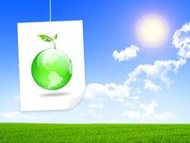 Groene energieoplossing Royalty-vrije Stock Afbeeldingen
