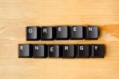 Groene Energiewoorden Stock Foto's