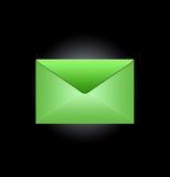 Groene envelop stock foto's