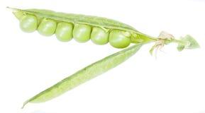 Groene erwten in de peul Royalty-vrije Stock Fotografie