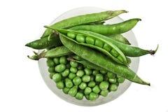 Groene erwten in een kom Royalty-vrije Stock Afbeelding
