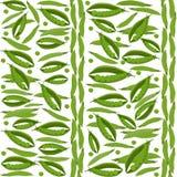 Groene erwten naadloos patroon, plantaardige achtergrond Stock Afbeelding