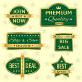 Groene etiketten Royalty-vrije Stock Fotografie