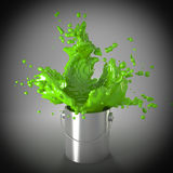 Groene explosie Stock Foto
