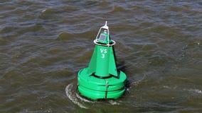 Groene fairway boei royalty-vrije stock fotografie